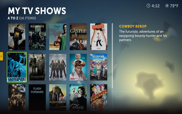 Boxee UI TV Shows