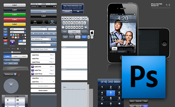 iPhone PSD GUI Kit (Tehan+Lax)