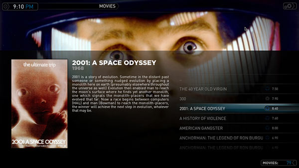 Plex Media Center Movie View