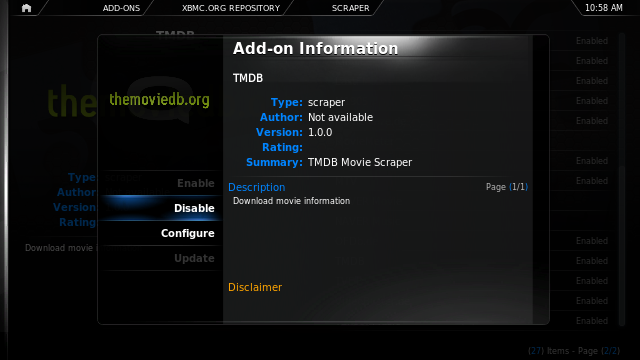 In-development preview of XBMC plugin Manager