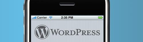 Remote blogging with the WP iphone app