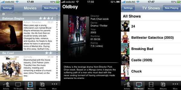 XBMC Remote iPhone app