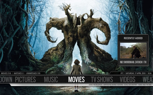 XBMC Home screen