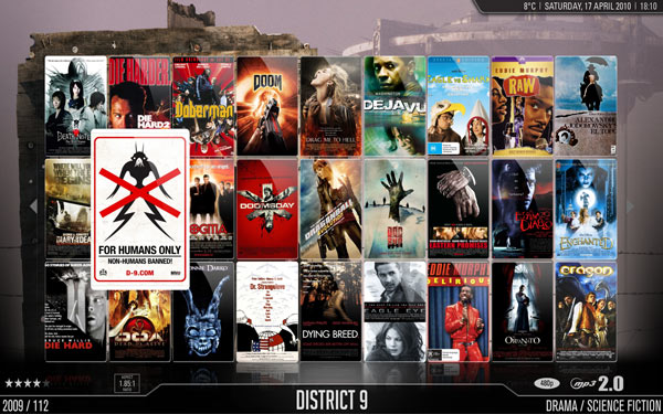 XBMC Movies wall view