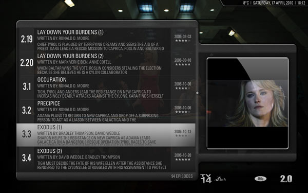 XBMC TV Episodes View